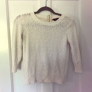 🤩CROPPED SLEEVE WHITE SWEATER🤩